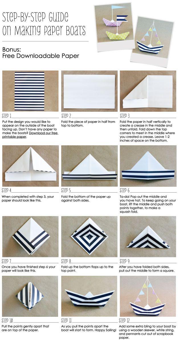 Comment Faire Un Bateau En Papier Ancre Des Idees De Fete Nautique Grand Point De Bonheur Origami Community Explore The Best And The Most Trending Origami Ideas And Easy Origami Tutorial